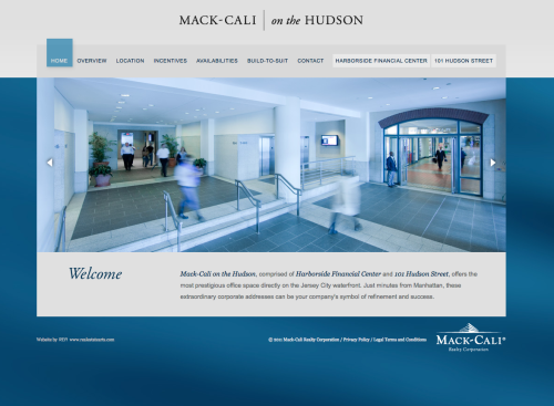 Harborside Financial Center brand and website by REA