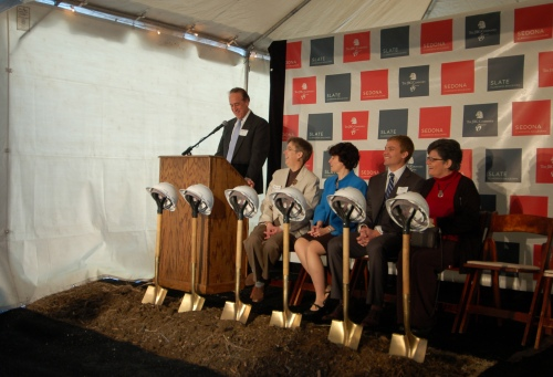 TheReal Estate Arts attends the JBG Companies development team break ground on Sedona and Slate