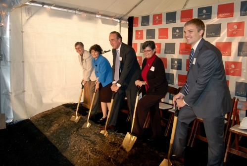 The JBG Companies development team break ground on Sedona and Slate