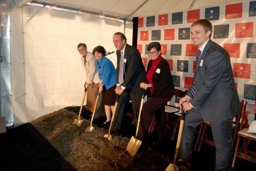 The JBG Companies development team break ground on Sedona and Slate
