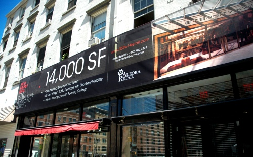Real Estate Arts designs dynamic retail leasing signage as seen here fo