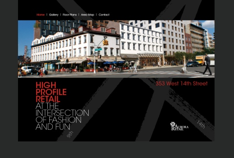 Real Estate Arts designs marketing campaign for Aurora Capital, Jared Epstein for 353 West 14th Street NYC