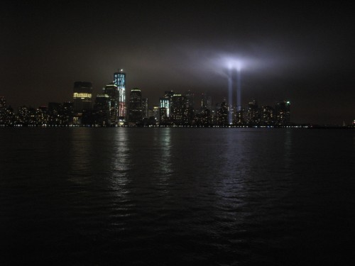 "Real Estate Arts Designer Anthony ""Chip"" Fernandez snapped some shots of lower Manhattan on the night of September 11, 2011"