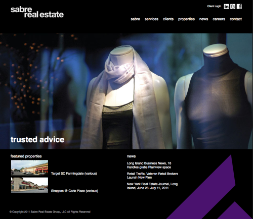 Sabre Real Estate's new website created by REA