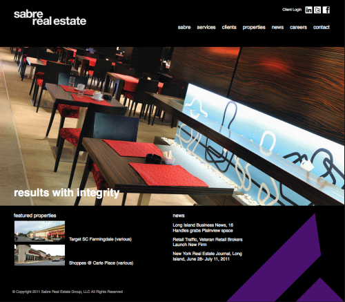 Sabre Real Estate new website designed by REA