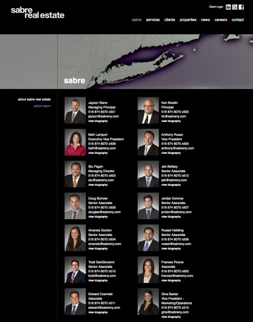 Sabre Real Estate Website conatct page by REA
