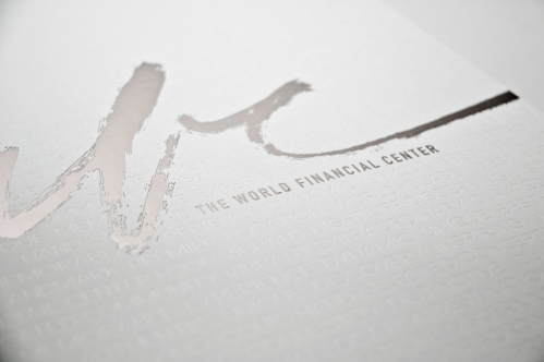 Cover detail of World Financial Center Brochure by Real Estate Arts