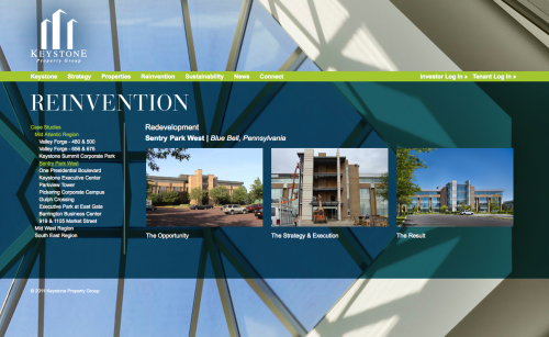 Keystone Property Group's new website by REA